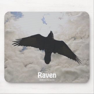 Flying Raven & Clouds Crow-lover Wildlife Mousepad