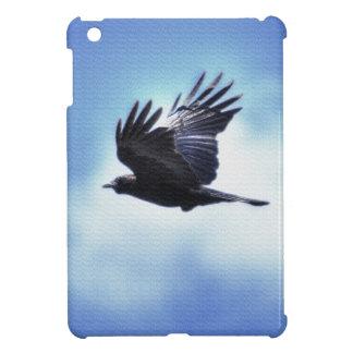 Flying Raven in Blue Sky HDR Photo Design 2 iPad Mini Case