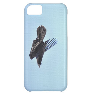 Flying Raven in Blue Sky HDR Photo Design Case For iPhone 5C