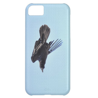 Flying Raven in Blue Sky HDR Photo Design iPhone 5C Case