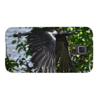 Flying Raven in Sunlight Wildlife Photo Galaxy S5 Cover