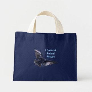 Flying Raven Mini Tote Bag