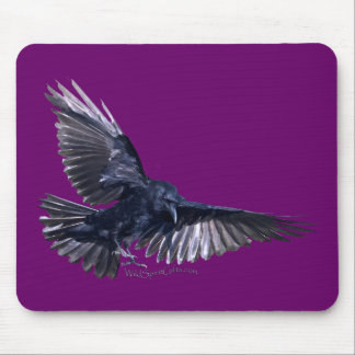 Flying Raven Mouse Pad