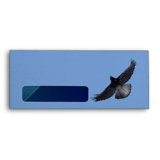 FLYING RAVEN Postal Envelope