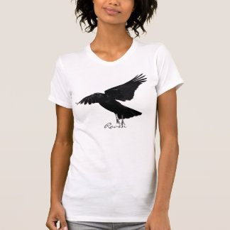 Flying Raven Taking-off Wildlife Art Shirt