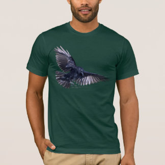 Flying Raven Wildlife Art Fashion T-Shirt