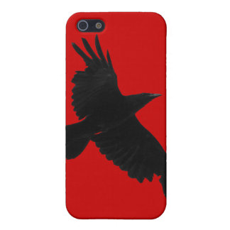 Flying Raven Wildlife Raven-Lover iPhone 4/4S Skin Cover For iPhone SE/5/5s