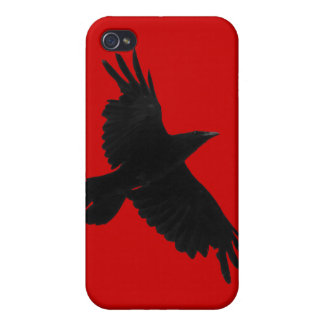 Flying Raven Wildlife Raven-Lover iPhone 4/4S Skin iPhone 4/4S Case