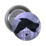Flying Ravens, Forest & Eerie Eyes Pins