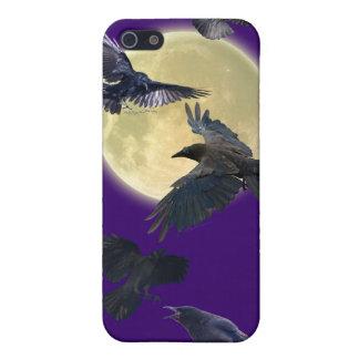 Flying Ravens & Moon Wildlife iPhone 4 Case