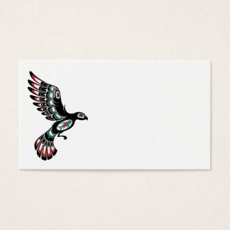 Flying Red and Black Haida Spirit Bird Business Card