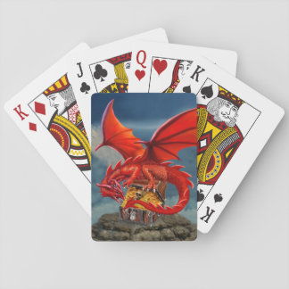 Flying Red Dragon's Treasure Chest Playing Cards