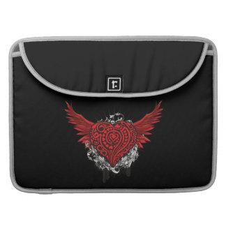 Flying Red Heart Tattoo Style Rickshaw Macbook Sle Sleeves For MacBook Pro