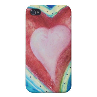 Flying Red Hearts with Wings Cases For iPhone 4