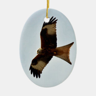flying red kite ceramic ornament