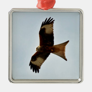flying red kite metal ornament