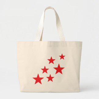 flying red stars icon large tote bag