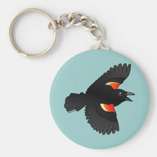 Flying Red-winged Blackbird Key Chain