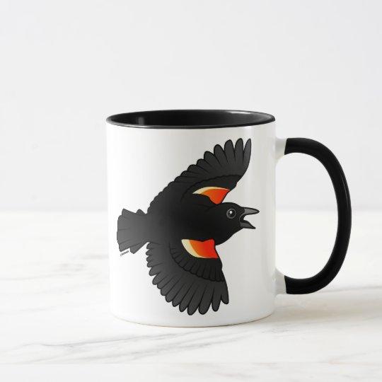 Flying Red-winged Blackbird Mug