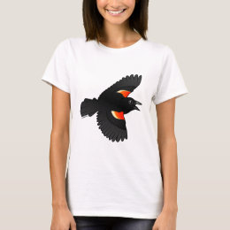 Flying Red-winged Blackbird T-Shirt