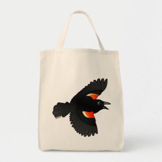 Flying Red-winged Blackbird Tote Bag