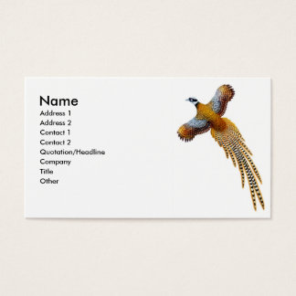 Flying Reeves Pheasant Business Card
