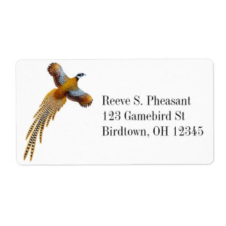 Flying Reeves Pheasant Label