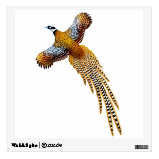 Flying Reeves Pheasant Wall Decal