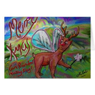 Flying Reindeer? Card