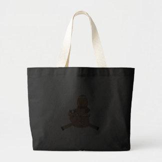 flying reindeer gingerbread man bag