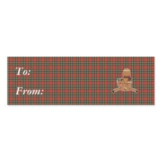 flying reindeer gingerbread man business card template