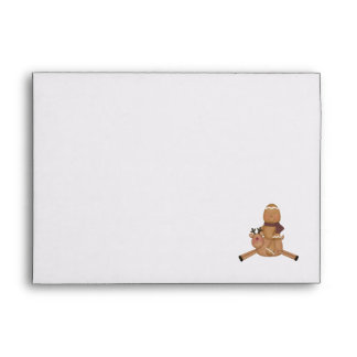 flying reindeer gingerbread man envelopes
