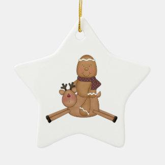 flying reindeer gingerbread man christmas ornaments