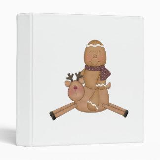 flying reindeer gingerbread man vinyl binders