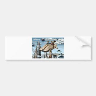 Flying Retro Future Car Bumper Sticker
