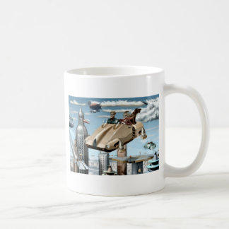 Flying Retro Future Car Coffee Mug