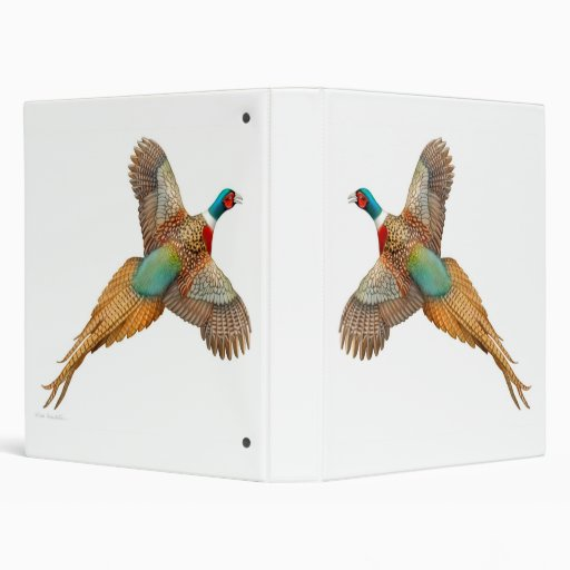 Flying Ring Necked Pheasant Avery Binder
