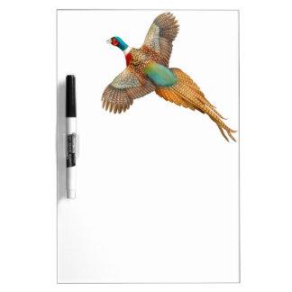 Flying Ringneck Pheasant Dry Erase Board