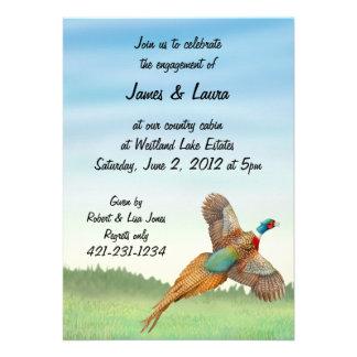 Flying Ringneck Pheasant Invitation