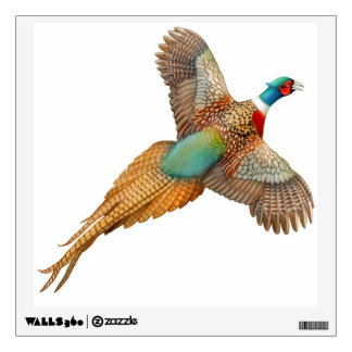 Flying Ringneck Pheasant Wall Decal