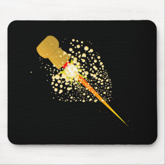 Flying Rocket Powered Cork Mouse Pad