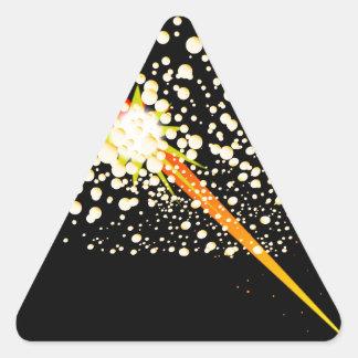 Flying Rocket Powered Cork Triangle Sticker