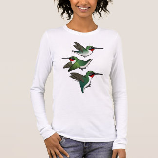 Flying Ruby-throated Hummingbird Long Sleeve T-Shirt