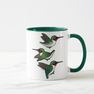 Flying Ruby-throated Hummingbird Mug