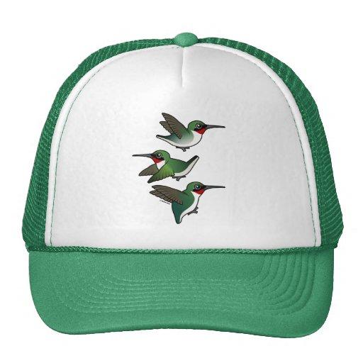 Flying Ruby-throated Hummingbird Trucker Hat