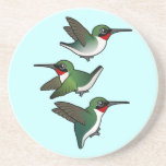 Flying Ruby-throats Beverage Coasters