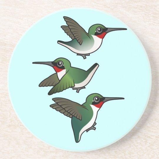 Flying Ruby-throats Drink Coaster