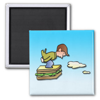 Flying Sandwich Refrigerator Magnets