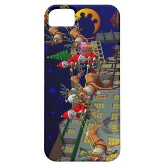 Flying Santa iPhone 5 Cases