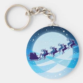 Flying Santa Key Chains